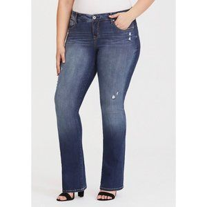 Torrid Distressed Slim Bootcut Jeans 16